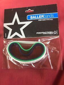 Footaction Baller Wrist Bands Id Bracelets Green White Blue 3 Pack New!