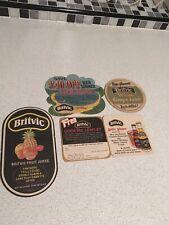 5 Vintage Britvic Beer Mats / Coasters
