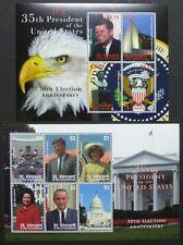 St. Vincent 2010 J. F. Kennedy US-Präsident Politik 6750-6759 Postfrisch MNH