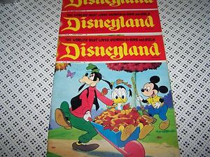 DISNEYLAND Vintage 1971 Disney Magazine No 82/83/92