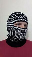 hand knit wool winter hat  balaclava, ski mask, one size