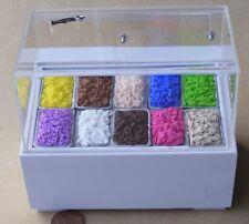 1:12 Scale Acetate & Wood Ice Cream Counter Tumdee Dolls House Food Accessory