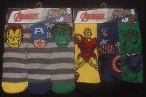 6 x Pairs of Boy's MARVEL AVENGERS Socks  U.K. Shoe Sizes 6 - 2.5 / EUR 23-34