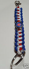 Chicago Cubs Paracord Handmade Deluxe Key Chain; CUBBIES 2016 World Championship