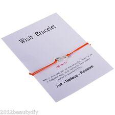 Lover Friends Footprints Infinite Symbols Charm Wish Friendship Bracelet Gift