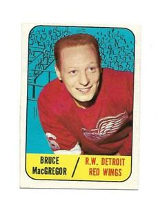1967-68 Topps:#102 Bruce MacGregor,Red Wings