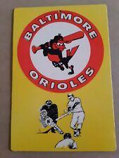 Baltimore Orioles vintage cardboard placard 7 3/4x11 1/2 inch 70s MLB SEE PIX!!!