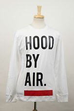 New. HOOD BY AIR White Cotton Logo Print Casual Crewneck T-Shirt Size S $300