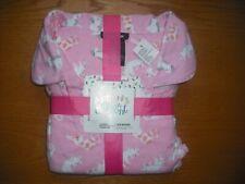 Womens NWT Joe Boxer PLUS SIZE Flannel Pajama SET Sleepy Cats Pink Sz:1X SOFT!!