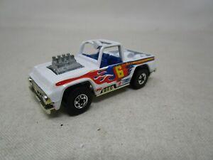 Vintage 1973 Hot Wheels BLACKWALL ERA *TRUCK #6* (WHITE) 1:64 (Case R)