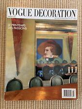 Vogue Decoration Magazine Mars 1988 English Text