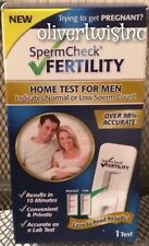 NEW SpermCheck Fertility Home Test for Men Sperm Check Male Expires NOV 2018