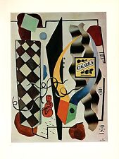 """1976 Vintage FERNAND LEGER """"THE RED STATUETTE"""" COLOR ABSTRACT offset Lithograph"""