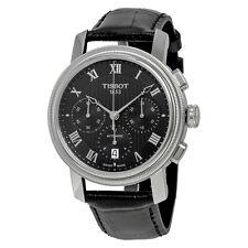 Tissot Bridgeport Chronograph Automatik Schwarz Zifferblatt Schwarz Leder Armbanduhr