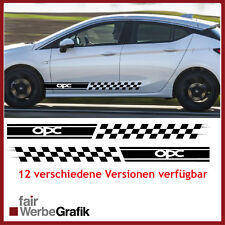 OPC Opel Astra Corsa Seitenstreifen Aufkleber  12 ver. Versionen u.Farben #113