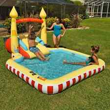 New listing Kid's Castle Themed Novelty Pool With A Two-Step Slide & Water Spray Arch Age 3+