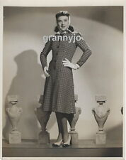 1940 Photo of a young Paulette Goddard Modeling a Coat