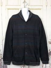 Levis Multicolor Striped Jacket Men Sz XXL NWT Retail $98 Snap Button Down Black
