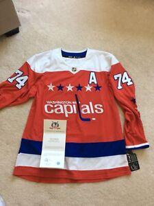 John Carlson Washington Capitals Signed Retro Adidas Authentic Jersey Size 54 A
