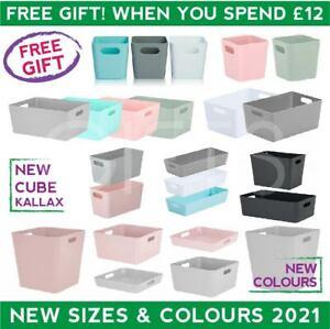 Wham Studio Baskets Plastic Storage Organiser Office Home Bathroom Kitchen Boxes