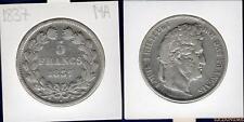 Louis Philippe Ier , 1830-1848 5 Francs 1837 MA Marseille TB / TTB Tranche Relie