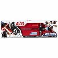 Hasbro Star Wars KYLO REN DELUXE ELECTRONIC LIGHTSABER BladeBuilders Toy. NEW