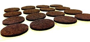 Felt Pads 34mm Large Brown Self Adhesive Round Furniture Sticky Protectors (260)