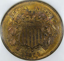 1864 Two Cent Piece NGC/CAC MS-64RB...Flashy, Pretty Tone, PQ Fatty NGC Holder!!