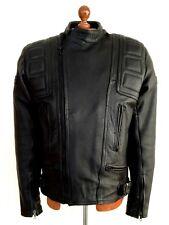 Vtg Mens Black BELSTAFF Leather Motorcycle Biker Bike Cafe Racer Jacket Coat Lge