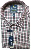 Stafford Berry Multi Plaid L/S Casual Dress Shirt Men's Size 18 Arm 34 / 35 New