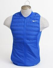 Nike Golf Blue Aeroloft Zip Front Golf Vest Men's Small S NWT