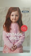 Patons Pattern Book #8023 Vintage Girls 5 Classic Designs to Knit or Crochet