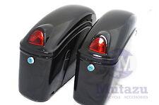 Mutazu Universal FY Motorcycle Hard Bag Saddlebags for Shadow V Star C50 Vulcan