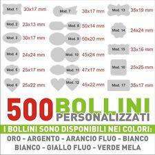 500 ETICHETTE - BOLLINI ADESIVI PERSONALIZZATI CON LOGO CHIUDI BUSTA