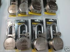 Lot 8 Saker 65mm Steel Ball Long Shackle Pad Lock / Keyed Different