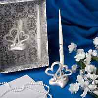 NEW INTERLOCKING HEARTS DESIGN WEDDING PEN SET FASHIONCRAFT
