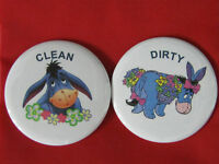 "CHILLY WILLY  CLEAN DIRTY  2.25/"" Dishwasher Magnet"