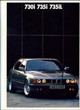 BMW 7 SERIES E32 SALES BROCHURE 1987 1988