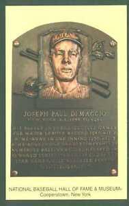 Joe DiMaggio, Yankee Legend, Hall of Fame Plaque
