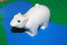 Lego Duplo grosser Eisbär für Zoo, Zirkus Bär weiss  Tier