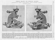 1906 Antique Engineering Print - Vertical Milling and Profiling Machine