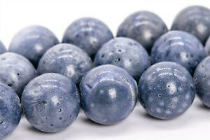 Genuine Natural Blue Coral Beads Grade AAA Round Loose Beads 4/6/8/10/12MM