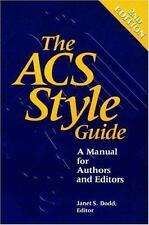 The ACS Style Guide: A Manual for Authors and Editors, , Good Book