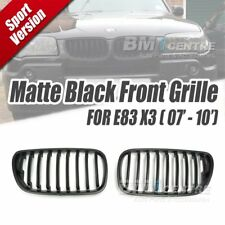 Matt Black Kidney Front Mesh Nose Grille for BMW X3 E83 LCI 2007-2010 Genuine OE