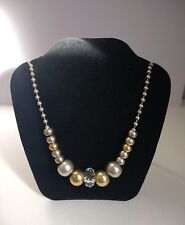 Gorgeous Designer Adele Marie London Statement Necklace Gold Silver Crystal Chic