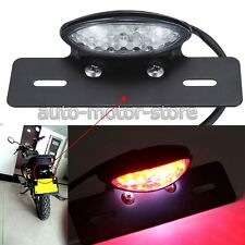 UNIVERSAL MOTORCYCLE BLACK LICENSE PLATE TAIL LIGHT FOR YAMAHA V-STAR XVS 1100