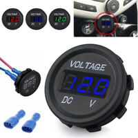 12V 24V Marine Car Motorcycle LED Digital Voltmeter Voltage Meter Battery Gauge