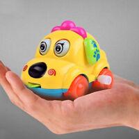 Cartoon Animal Dog Wind Up Toys Running Car Clockwork Toys Classic Toy Newborn~