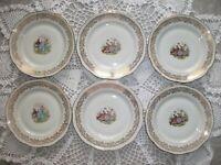 Anciennes assiettes plate Fragonard en Porcelaine Dure à Pâte d'Émaux Limoges(4)