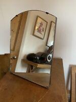 Vintage Art Deco Frameless Bevel Edge Mirror - Dressing Table Free Standing
